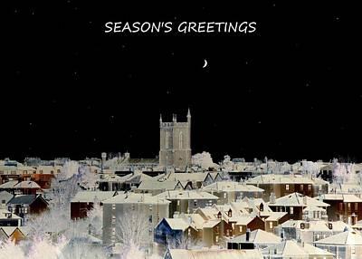 Seasons Greetings Christmas Card Print by Bishopston Fine Art