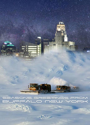 City Scape Digital Art - Seasons Greetings From Buffalo by Peter Chilelli