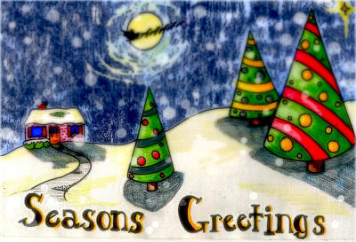 Digital Art - Seasons Greetings by Jame Hayes