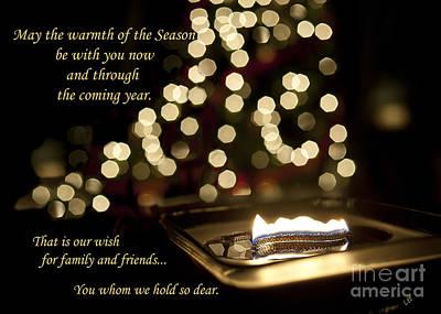 Photograph - Seasons Greetings Card by Lee Craig