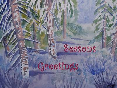 Painting - Seasons Greetings - Snowy Winter Path by Cascade Colors