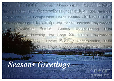 Photograph - Seasons Greetings Wishes by Belinda Greb