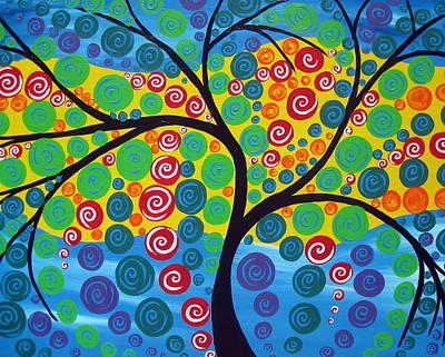 Seasons Of Joy Art Print by Cathy Jacobs