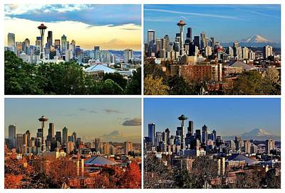 Photograph - Seasons Of Seattle White by Benjamin Yeager