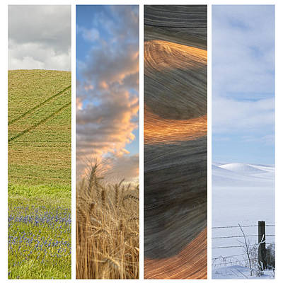 Seasons Of The Palouse II Art Print by Latah Trail Foundation