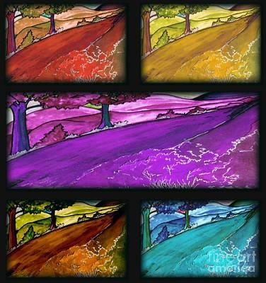 Painting - Season's Road by Iris Gelbart