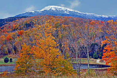 Photograph - Seasons' Shift - Mount Washington - White Mountains by Nikolyn McDonald