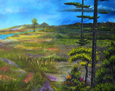 Seasons-summer/autumn Art Print by Surreal World