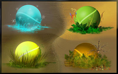 Digital Art - Seasons by Vincent Autenrieb