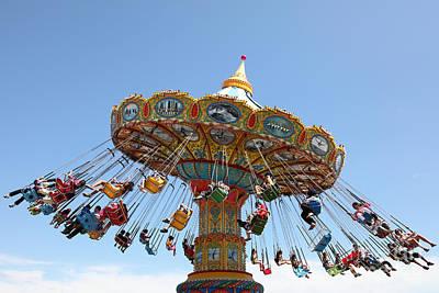 Roller Coaster Photograph - Seaswings At Santa Cruz Beach Boardwalk California 5d23905 by Wingsdomain Art and Photography