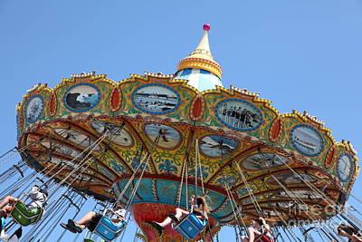 Roller Coaster Photograph - Seaswings At Santa Cruz Beach Boardwalk California 5d23907 by Wingsdomain Art and Photography
