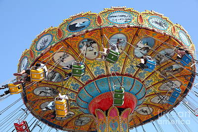 Roller Coaster Photograph - Seaswings At Santa Cruz Beach Boardwalk California 5d23908 by Wingsdomain Art and Photography