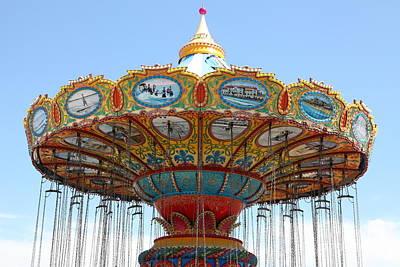 Roller Coaster Photograph - Seaswings At Santa Cruz California 5d23888 by Wingsdomain Art and Photography