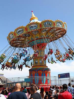 Roller Coaster Photograph - Seaswings At Santa Cruz California 5d23893 by Wingsdomain Art and Photography
