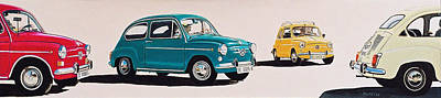 Fiat Car Painting - Seat 600 Group 2 by Jorge Pinto