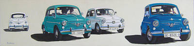 Fiat Car Painting - Seat 600 Group by Jorge Pinto