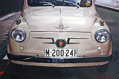Fiat Car Painting - Seat 600 by Jorge Pinto