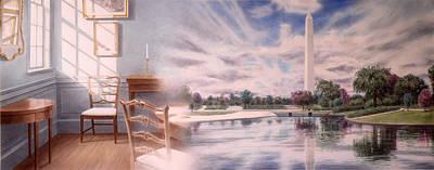 Washington Monument Painting - Seat Of Power by Loren Salazar