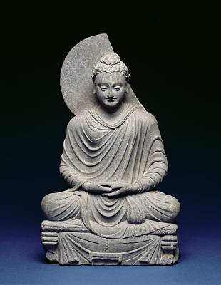 Contemplative Photograph - Seated Buddha by Pakistani School