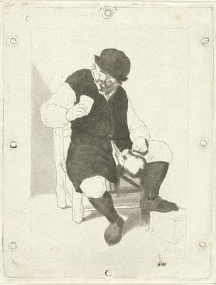 Seated Farmer With Pitcher, Cornelis Ploos Van Amstel Art Print by Artokoloro