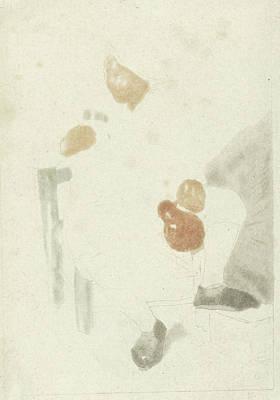Glass Bottle Drawing - Seated Farmer With Pitcher, Cornelis Ploos Van Amstel by Cornelis Ploos Van Amstel
