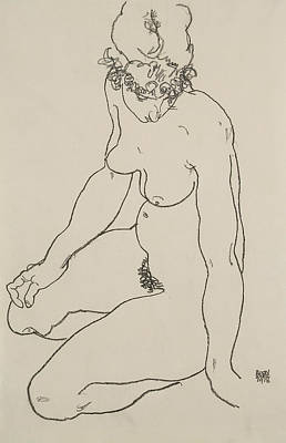 Painting - Seated Female Nude, 1918 by Egon Schiele