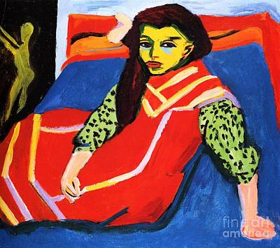 Painting - Seated Girl - Franzi  by Pg Reproductions
