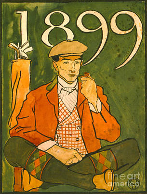 Seated Golfer 1899 Art Print by Padre Art