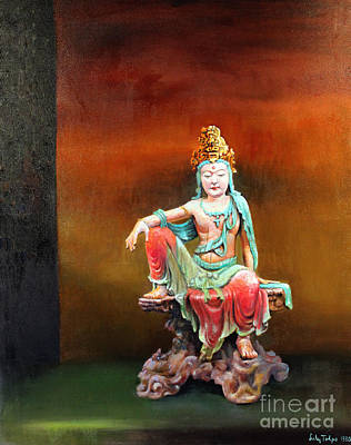 Painting - Seated Kuan Yin by Art By Tolpo Collection