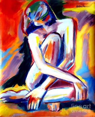 Seated Lady Art Print by Helena Wierzbicki