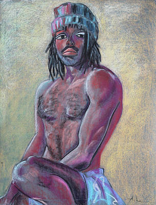 Painting - Seated Man With A Hat by Asha Carolyn Young