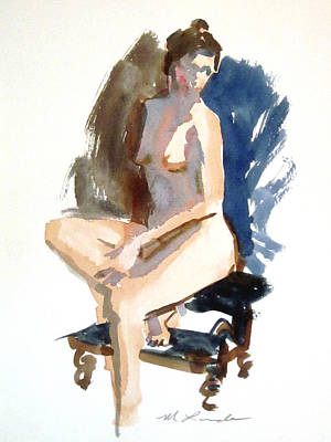 Painting - Seated Model Sketch by Mark Lunde