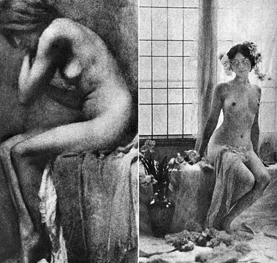 Photograph - Seated Nude, C1900 by Granger
