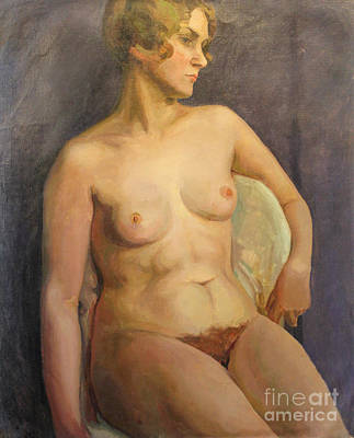 Painting - Seated Nude II 1929 by Art By Tolpo Collection