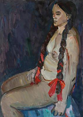 Painting - Seated Nude by Juliya Zhukova