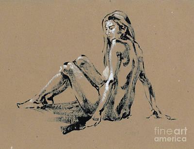 seated Nude Print by Konstantin Boreo