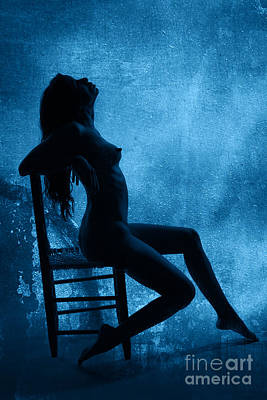 Silhouette Photograph - Seated Nude Silhouette 2 by Kendree Miller