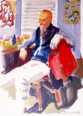 Painting - Seated Russian by Mark Lunde