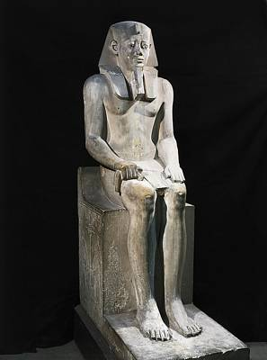 Statue Portrait Photograph - Seated Statue Of Sesostris I. 1971 by Everett