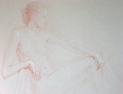 Seated Woman Art Print by Deborah Dendler