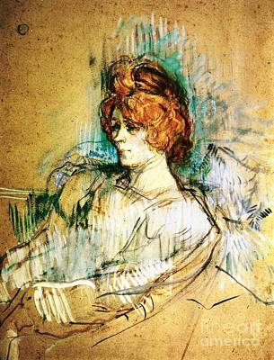 Cardboard Painting - Seated Woman by Pg Reproductions