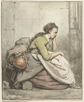 Copper Drawing - Seated Woman With A Copper Kettle, Abraham Van Strij by Quint Lox