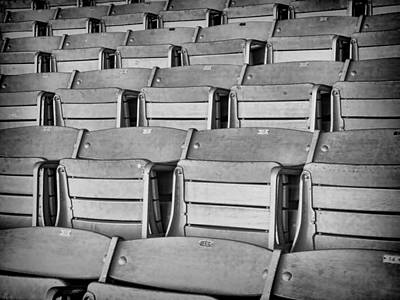 Empty Chairs Photograph - seats 5810BW by Rudy Umans
