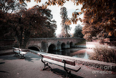 Seats By The River Art Print
