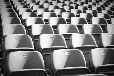 Velodrome Photograph - Seats by Chevy Fleet