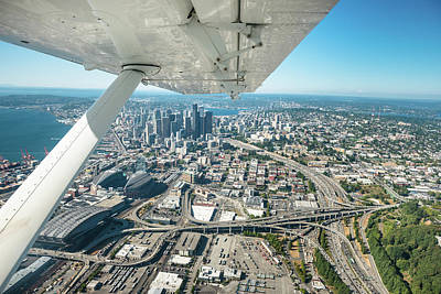 Seattle Aerial View Art Print by Franckreporter