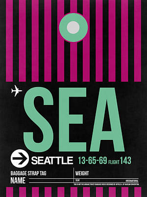 Seattle Mixed Media - Seattle Airport Poster 4 by Naxart Studio