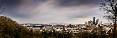Photograph - Seattle And Stadiums Panoramic by Chris McKenna