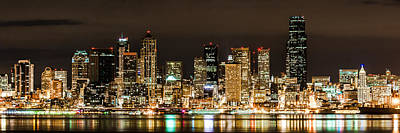 Seattle At Night Art Print by Chris McKenna