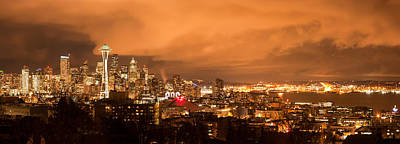Seattle At Night Original by Georgy Krivosheev
